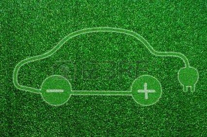 14885473-Зеленый-экологический-электромобиль-знак.